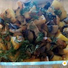 Пошаговый рецепт овощного рагу с грибами и картофелем, фото