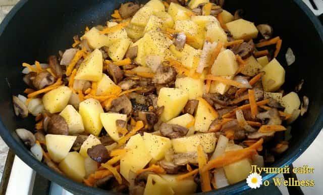 Как приготовить овощное рагу с грибами и картошкой, пошаговый рецепт с фото