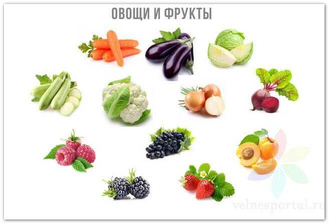 2 группа продуктов питания - овощи и фрукты, фото