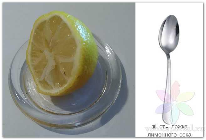 1 столовая ложка лимонного сока, фото